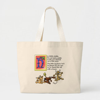 Hey Diddle Diddle Large Tote Bag