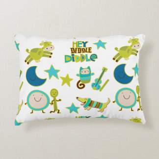 Hey Diddle Diddle Nursery Rhyme Accent Pillow