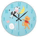 Hey Diddle Diddle Nursery Rhyme Children's Clock