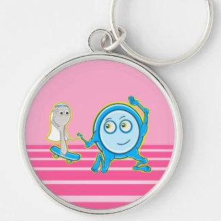 Hey Diddle Diddle Nursery Rhyme Design For Girls Keychain