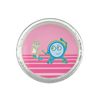 Hey Diddle Diddle Nursery Rhyme Design For Girls Ring
