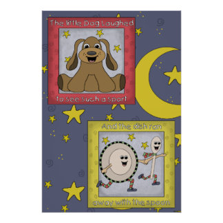 Hey Diddle Diddle Nursery Rhyme Two of Two Poster