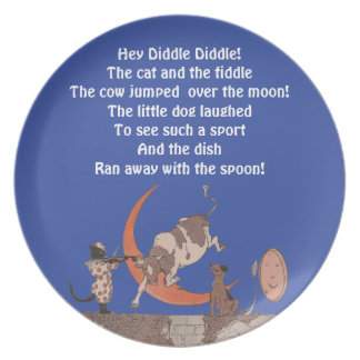Hey Diddle Diddle! Plate