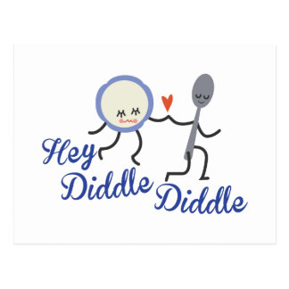Hey Diddle Diddle Postcard