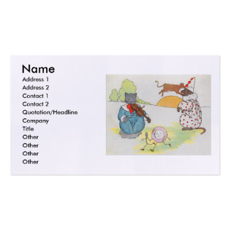Hey, diddle, diddle!  The cat and the fiddle Business Card