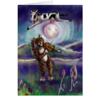 Hey diddle diddle the cat and the fiddle card