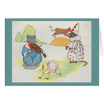 Hey, diddle, diddle!  The cat and the fiddle Greeting Card