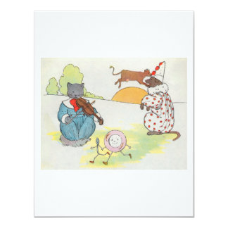 Hey, diddle, diddle!  The cat and the fiddle Card