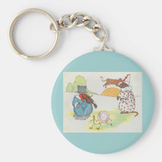 Hey, diddle, diddle!  The cat and the fiddle Keychains