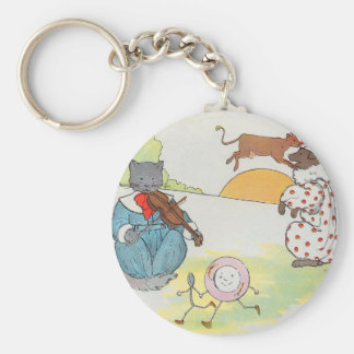 Hey, diddle, diddle!  The cat and the fiddle Key Chain