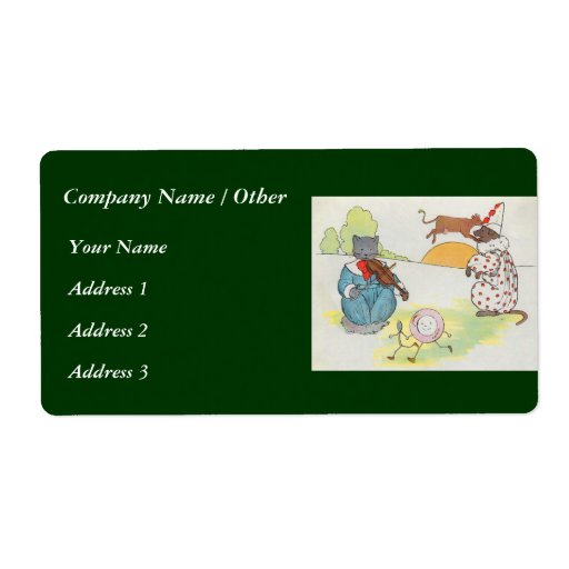 Hey, diddle, diddle!  The cat and the fiddle Personalized Shipping Labels