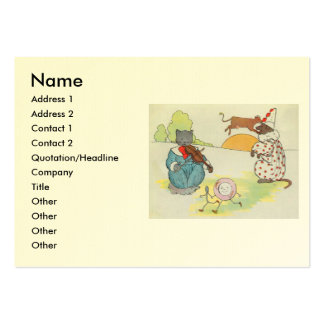 Hey, diddle, diddle!  The cat and the fiddle Large Business Card