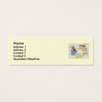Hey, diddle, diddle!  The cat and the fiddle Mini Business Card