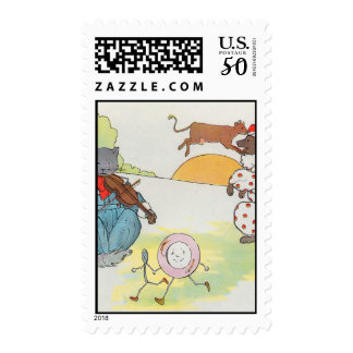 Hey, diddle, diddle!  The cat and the fiddle Postage