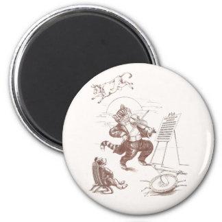 Hey Diddle Diddle Vintage Illustration 2 Inch Round Magnet