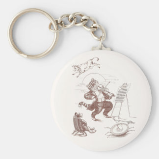 Hey Diddle Diddle Vintage Illustration Keychains
