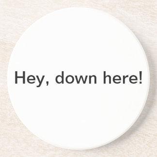 Hey, down here! coaster