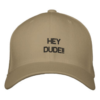 Hey Dude Embroidered Baseball Cap