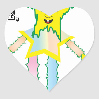 Hey Dude Let's Party.ai Heart Sticker