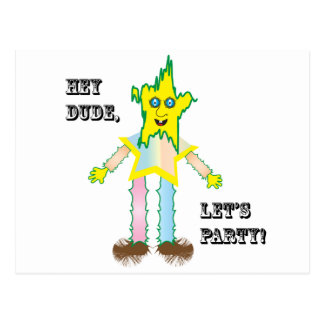 Hey Dude Let's Party.ai Postcard