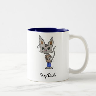 Hey Dude! Two-Tone Coffee Mug