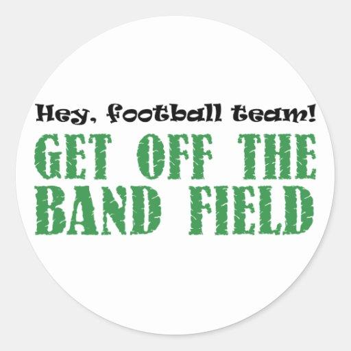 Hey, Football Team! Round Sticker