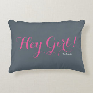 Hey Girl Accent Pillow