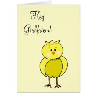 Hey Girlfriend Card