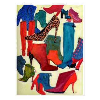 Hey Girls, need a new pair? - Fashion illustration Postcard
