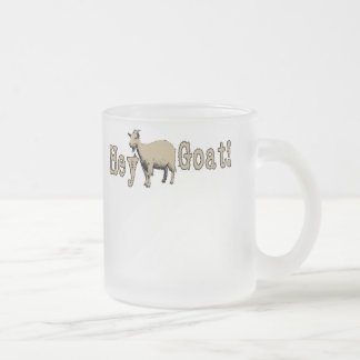 Hey Goat1 Frosted Glass Coffee Mug