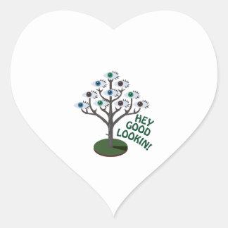Hey Good Lookin Heart Sticker
