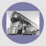 Hey Good Lookin' Vintage New York Central Railroad Classic Round Sticker