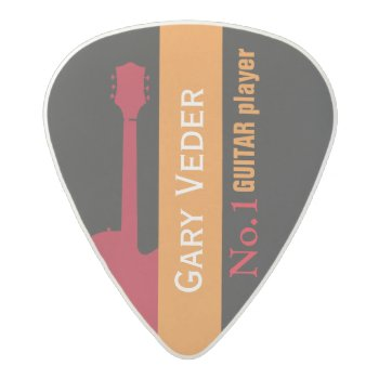 Hey Guitar-player  Create Your Own Acetal Guitar Pick by mixedworld at Zazzle