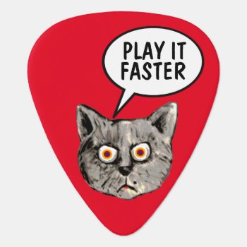 Hey Guitar-player... Play It Faster Guitar Pick by mixedworld at Zazzle