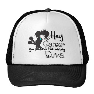 Hey Gynecologic Cancer You Picked The Wrong Diva Trucker Hat