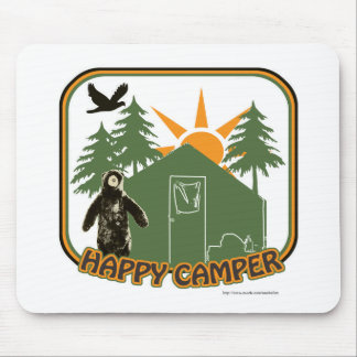 Hey Happy Camper Mouse Pad