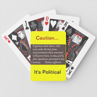 Hey have you Heard? It's Political Playing Cards