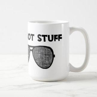 """""""Hey Hot Stuff"""" White Mug"""