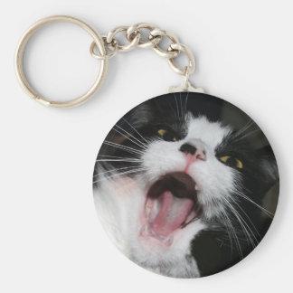Hey I Am TALKING TO YOU!!! Crazy Cat Keychain