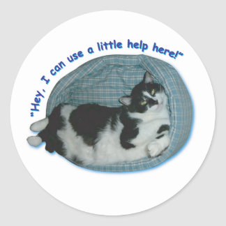 Hey, I can use a little help here! Sticker