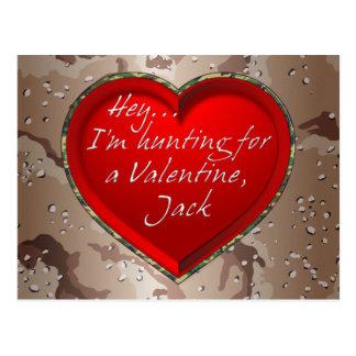 Hey...I'm Hunting For A Valentine, Jack Postcard