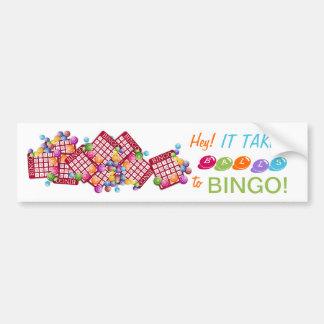 Hey It Takes BALLS to BINGO Bumper Sticker