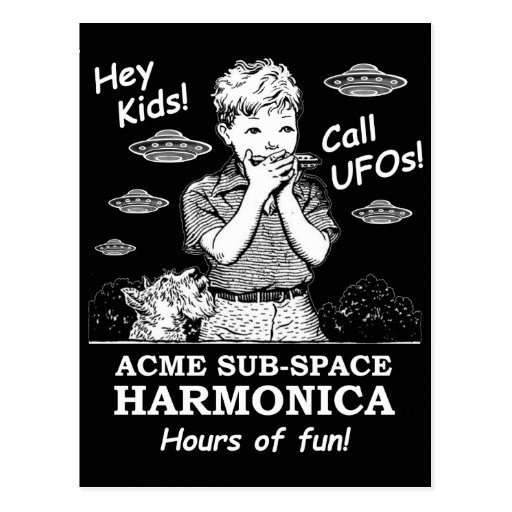 Hey Kids! Call UFOs! Postcards