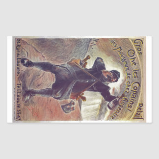 Hey Lads! Champagne By A. Grebel France WWI 1915 Rectangular Sticker