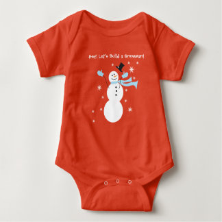 Hey! Let's build a Snowman for Baby Baby Bodysuit