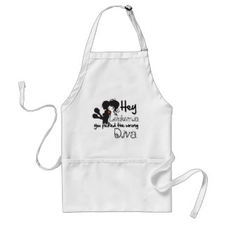Hey Leukemia Cancer You Picked The Wrong Diva Adult Apron