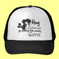 Hey Leukemia Cancer You Picked The Wrong Diva Trucker Hat