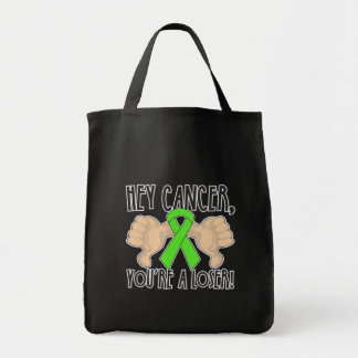 Hey Lymphoma Cancer You're a Loser Canvas Bags