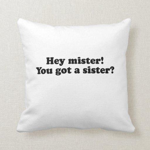Hey Mister, You Got a Sister? Pillow