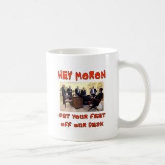 HEY MORON COFFEE MUG